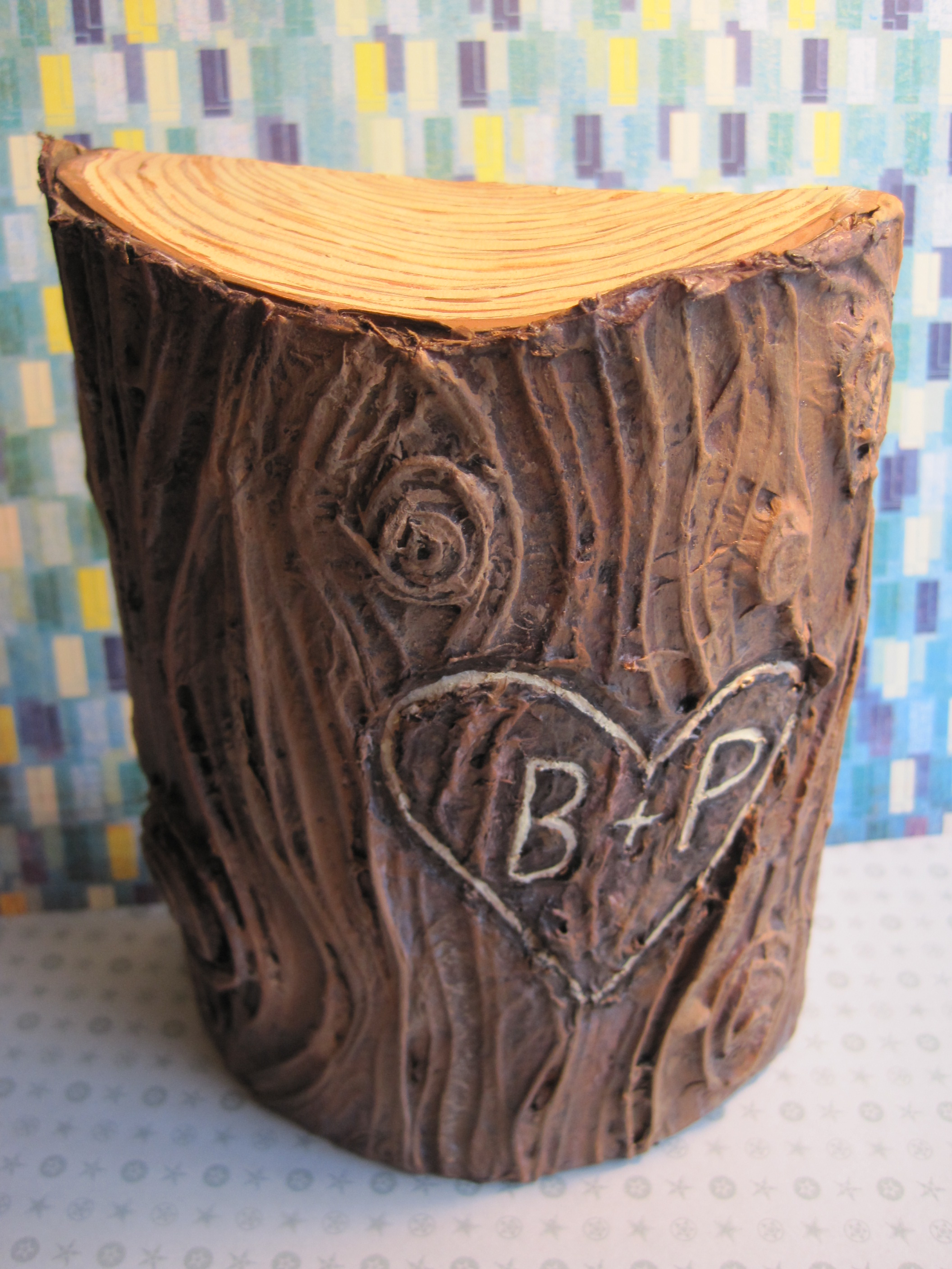 Initials Carved On Tree Dianne Faw
