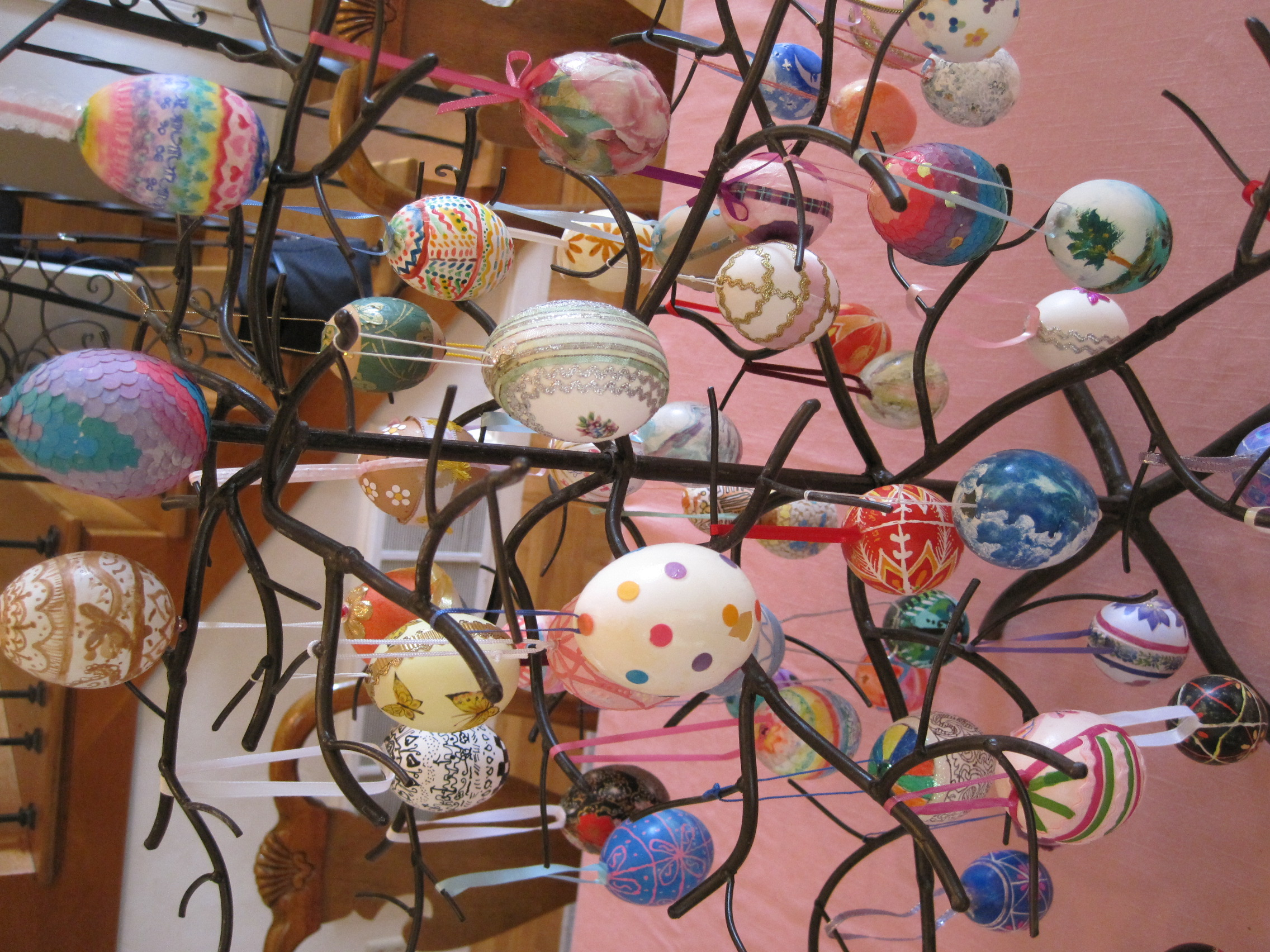 Easter egg tree dianne faw How to make an easter egg tree