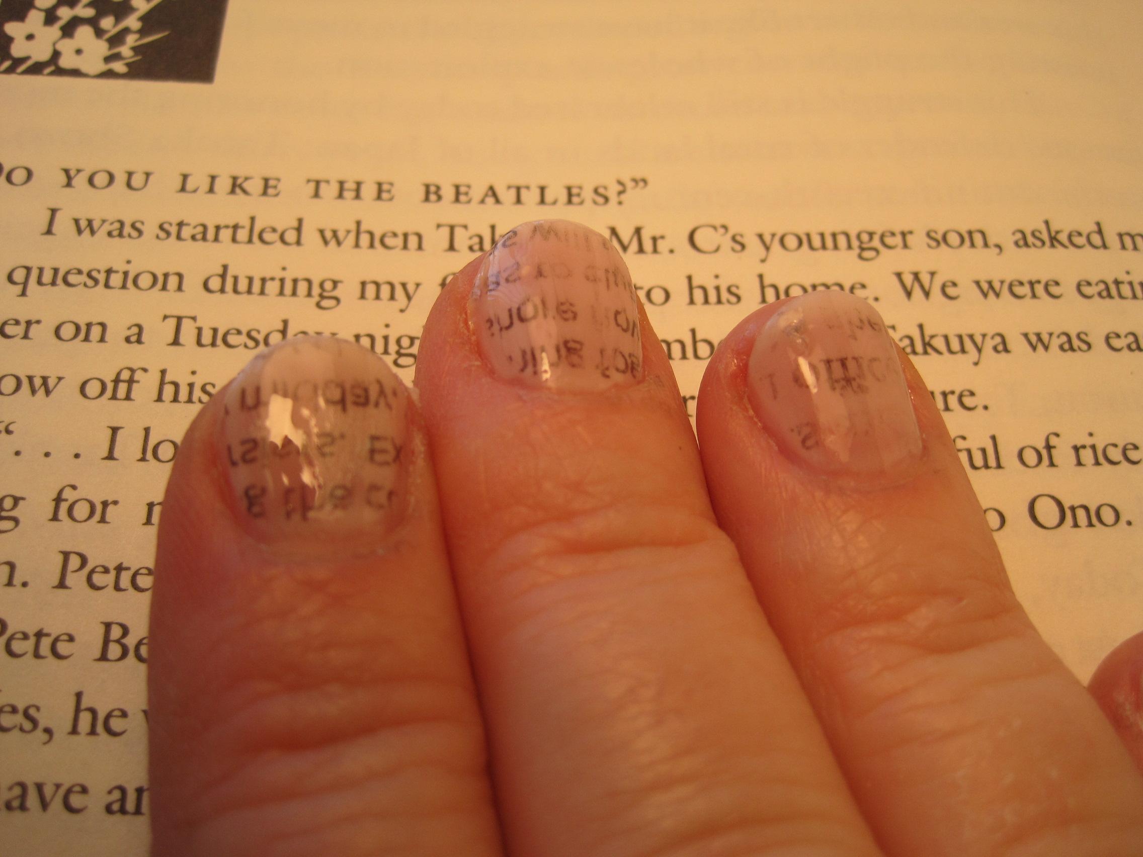 Newsprint Nails | dianne faw