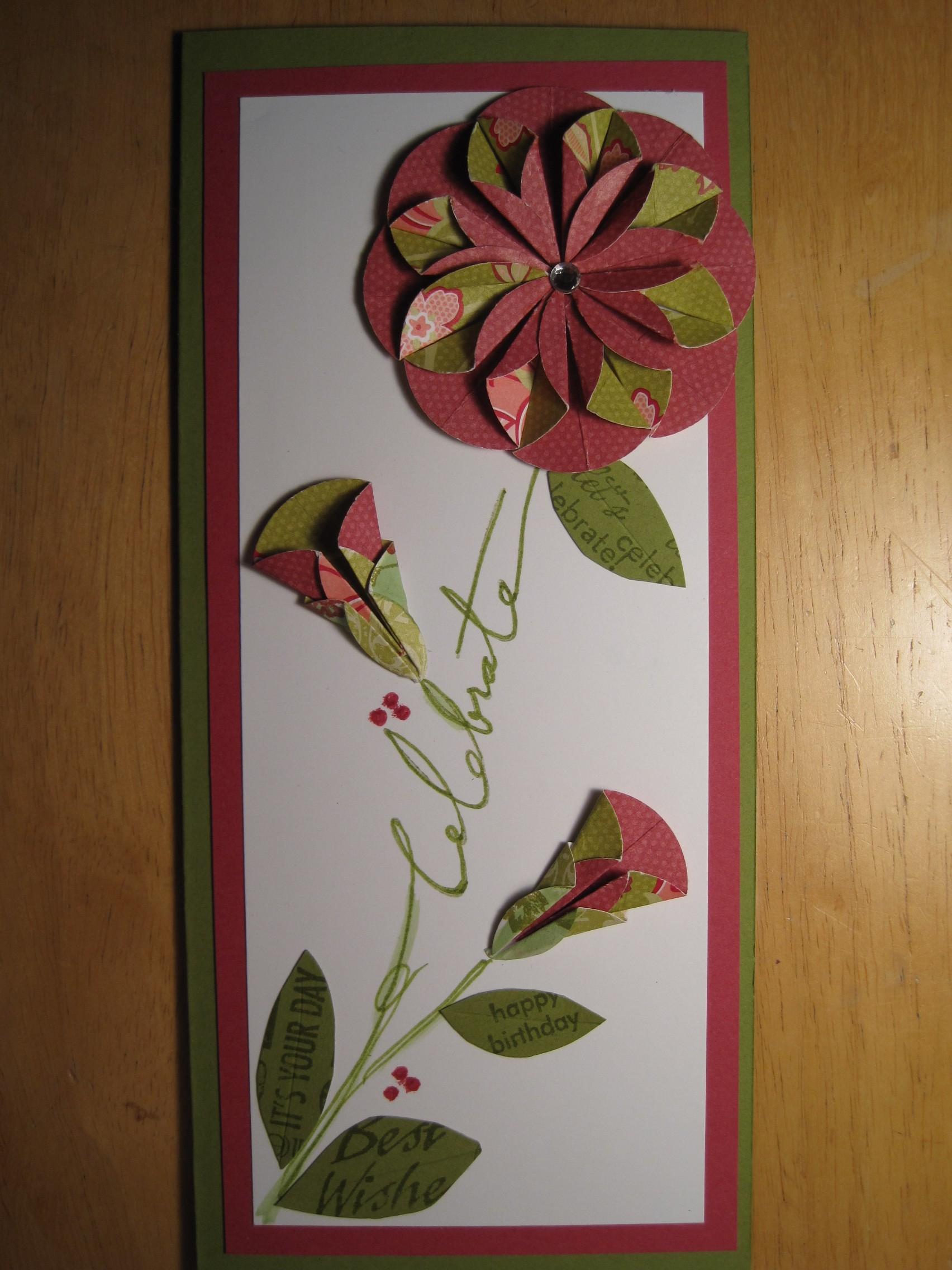 Dahlia Fold Flower Card Dianne Faw