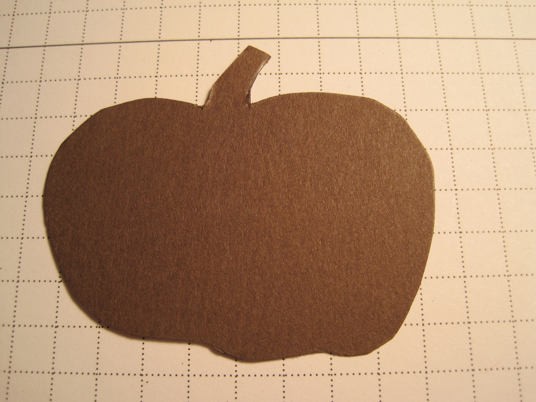 Pumpkin pin made with copper foil tape dianne faw