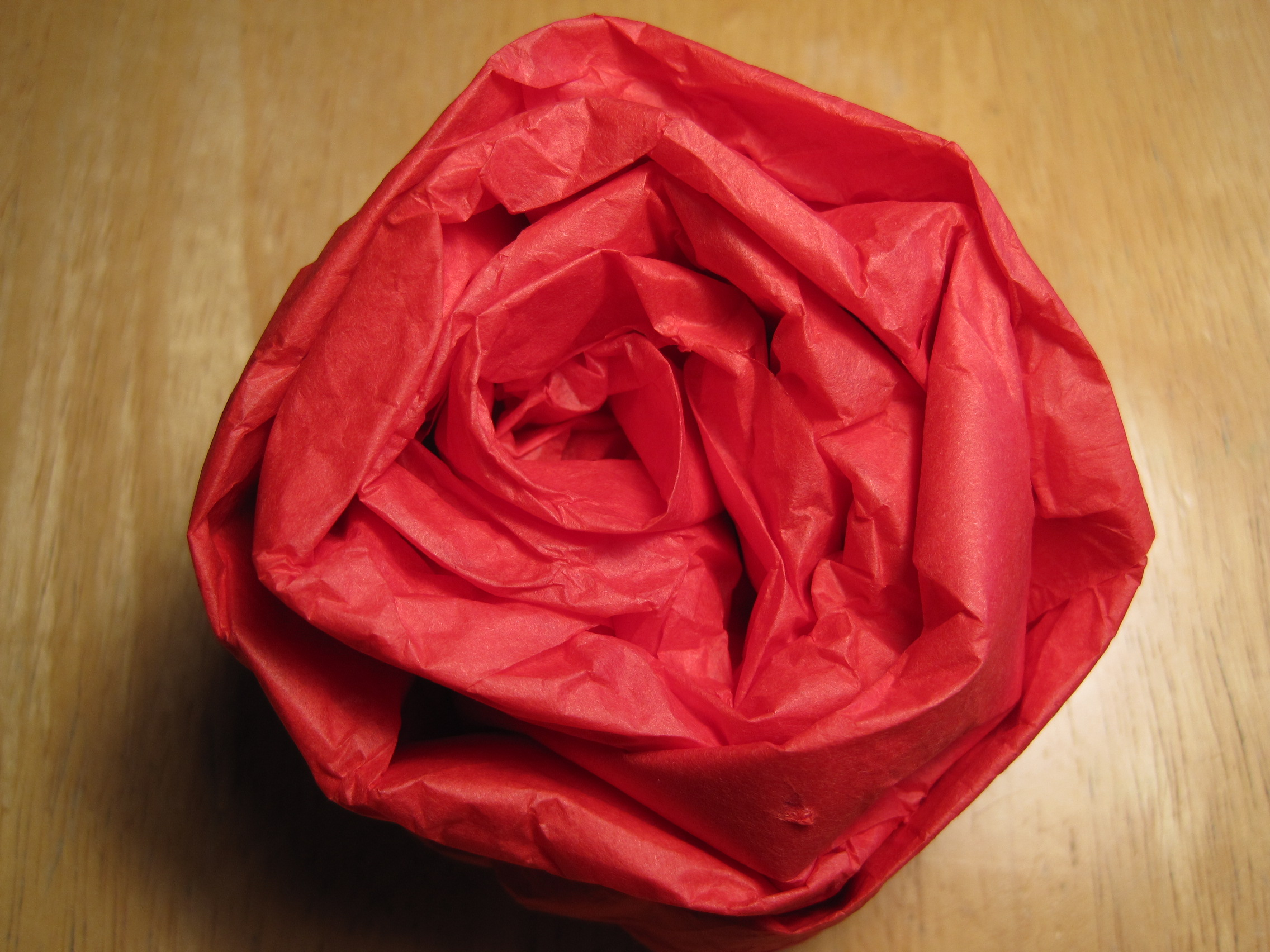 Scrunched Tissue Paper Wrapping Amp Tissue Roses Dianne Faw