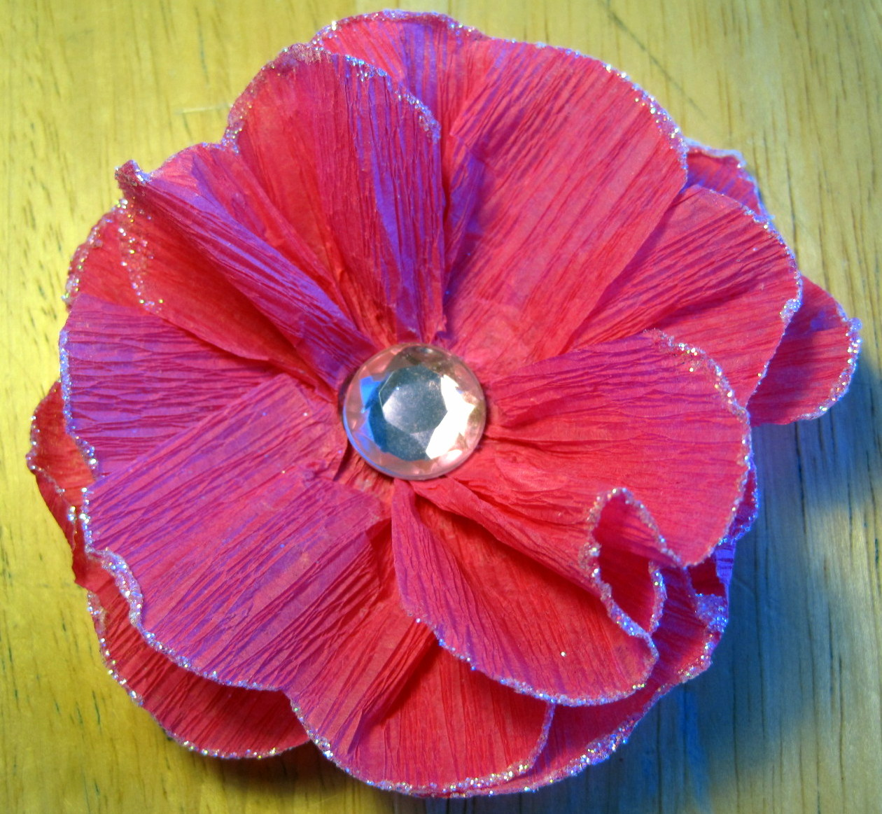 Day 23 Crepe Paper Flower