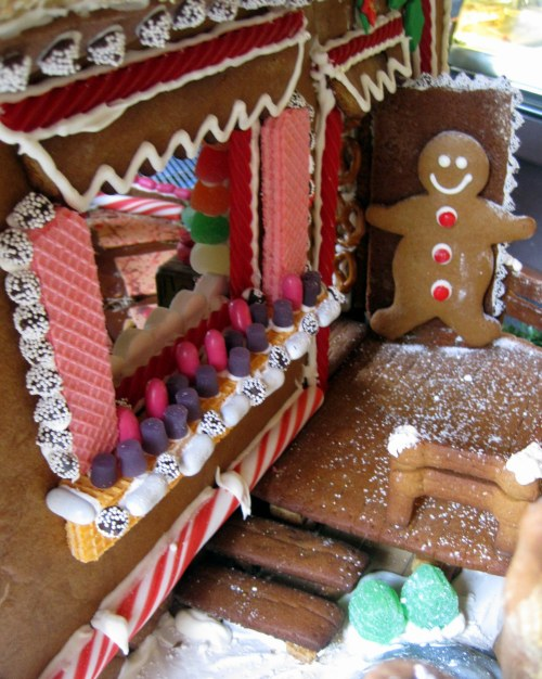 Front Porch of Gingerbread Cabin