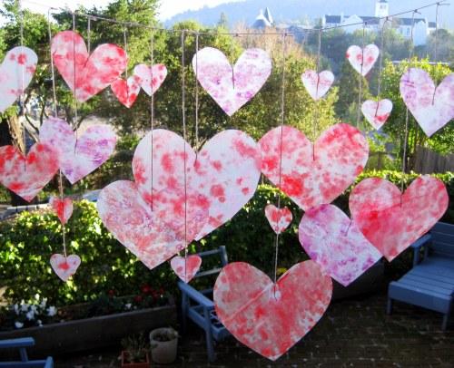 Crayon Wax Paper Hearts