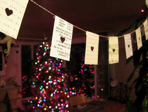 Punched Heart Garland