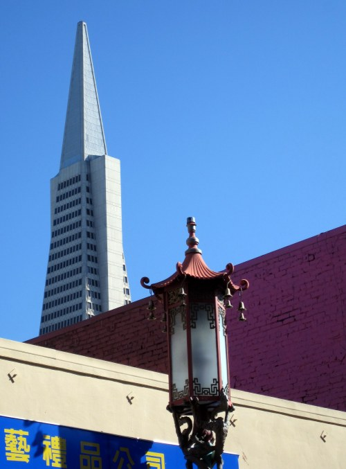 Transamerica Pyramid with Chinese Lantern