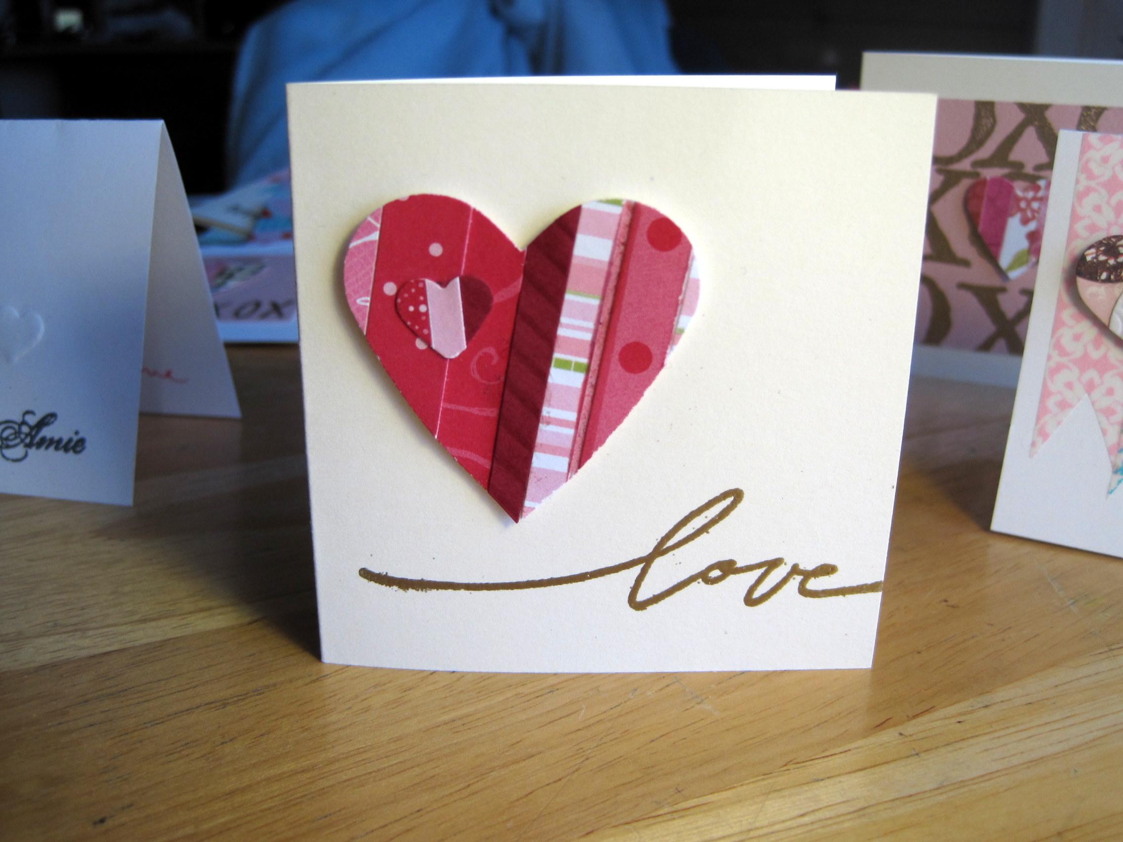 Big Red Paper Strip Heart love