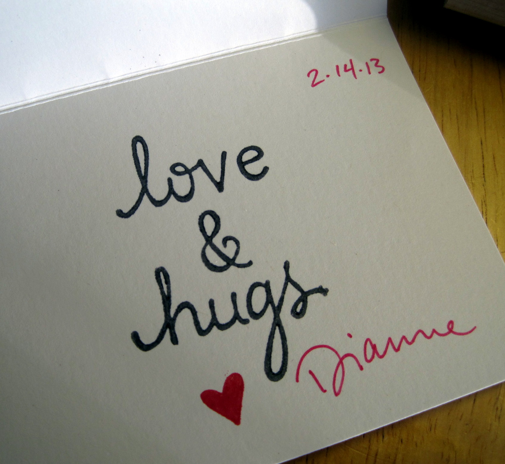 love & hugs