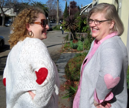 Leah & Di turned toward camera