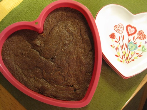 Heart Shaped Pan of Brownies