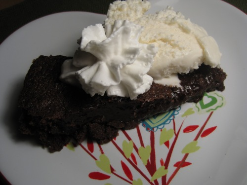 Warm Brownie & Ice Cream