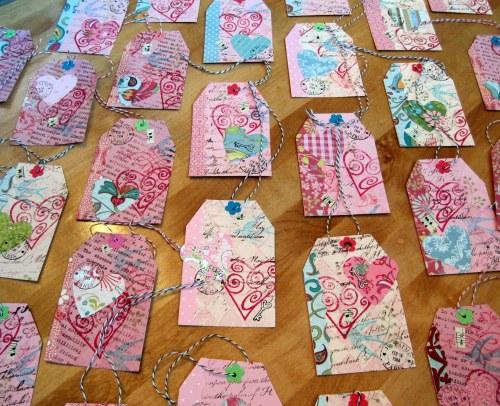 Masterboard Valentine Tags