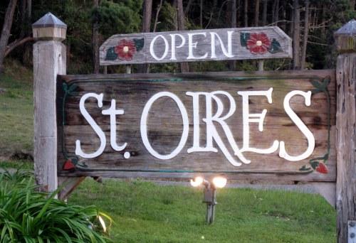 Sign at St Orres