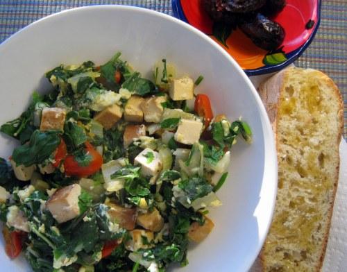 Tofu veggie scramble