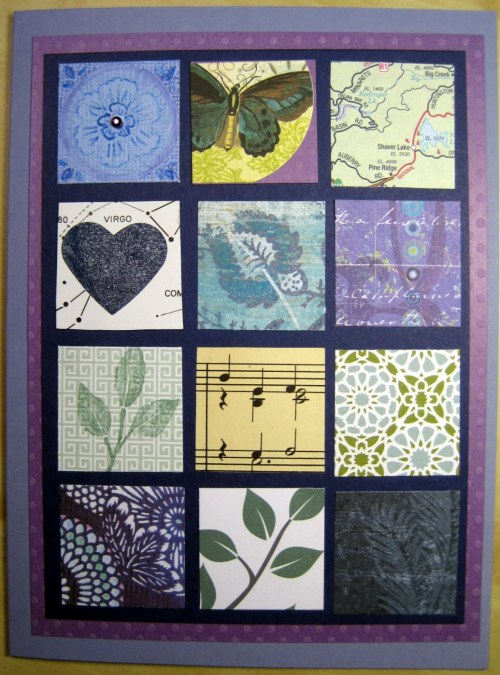 Patchwork Squares Sympathy Card