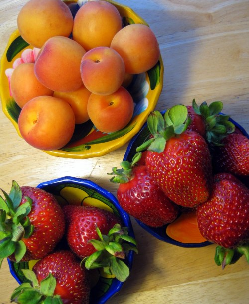 Apricots & Strawberries