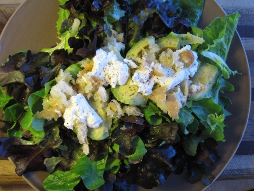 Baked Feta and Avoado Salad