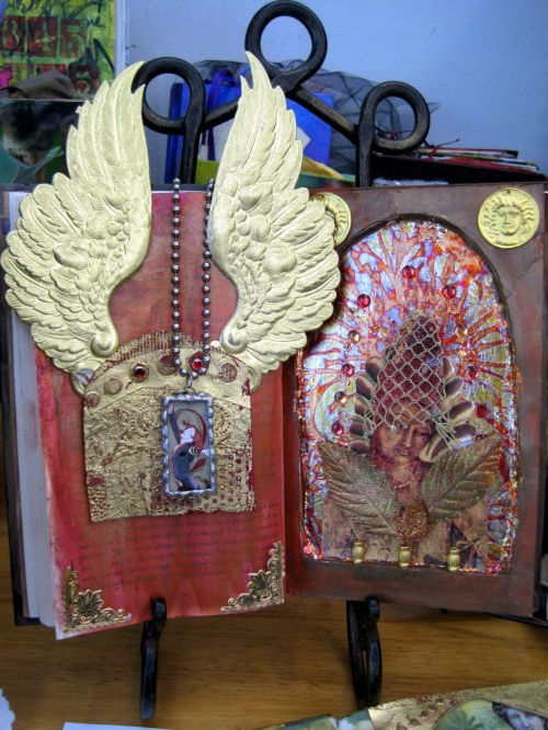 Altered Book Shrine