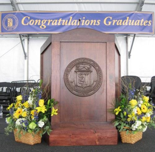 Graduation Podium