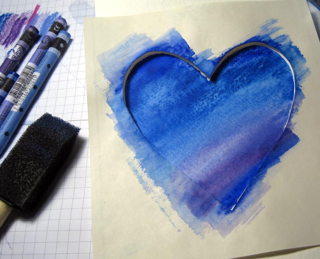 Foam Brush Heart
