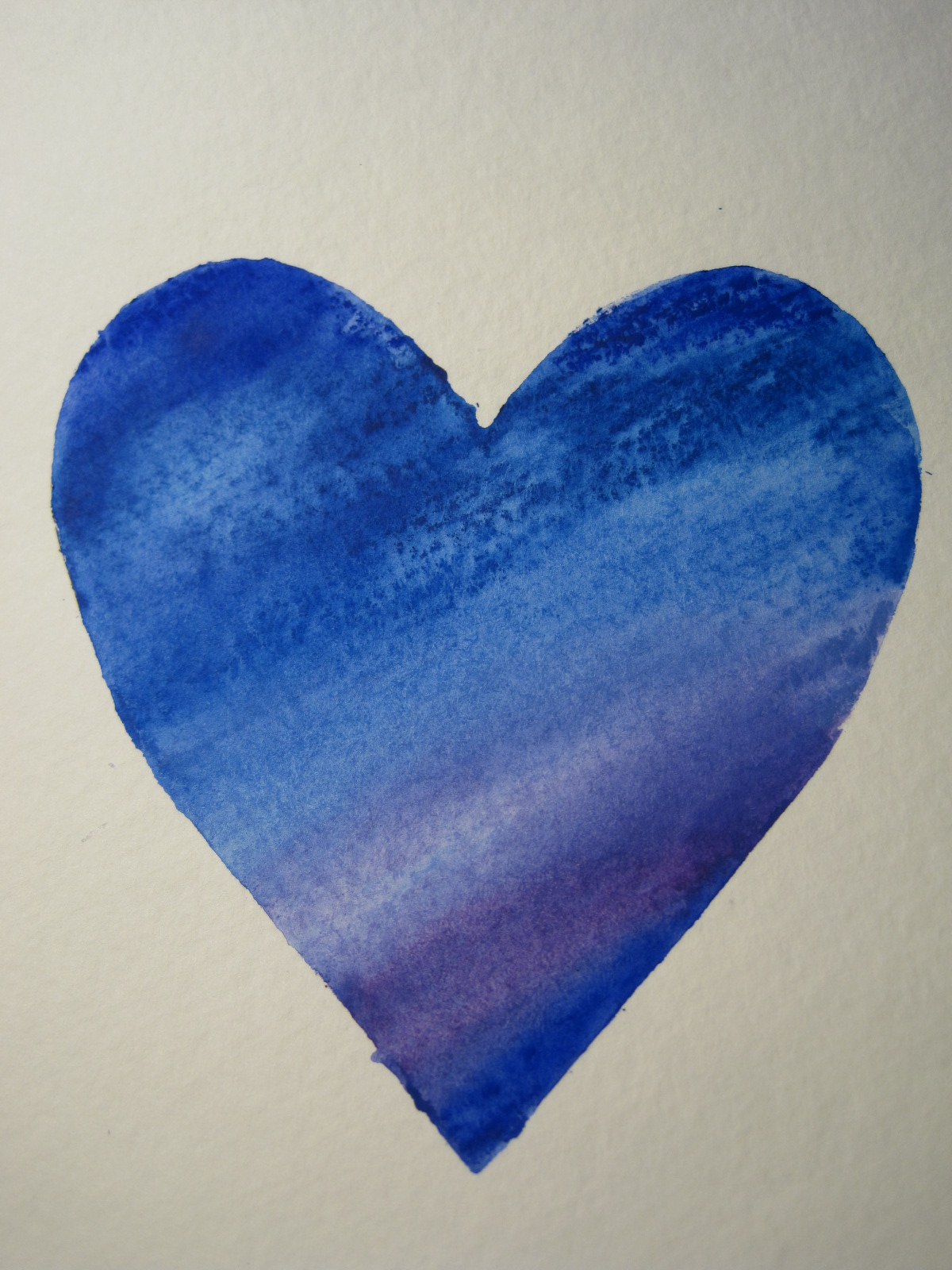 Painted Hearts Blue