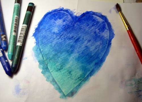 Painted Heart with Template