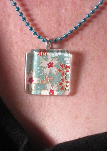 Glass Tile Pendant
