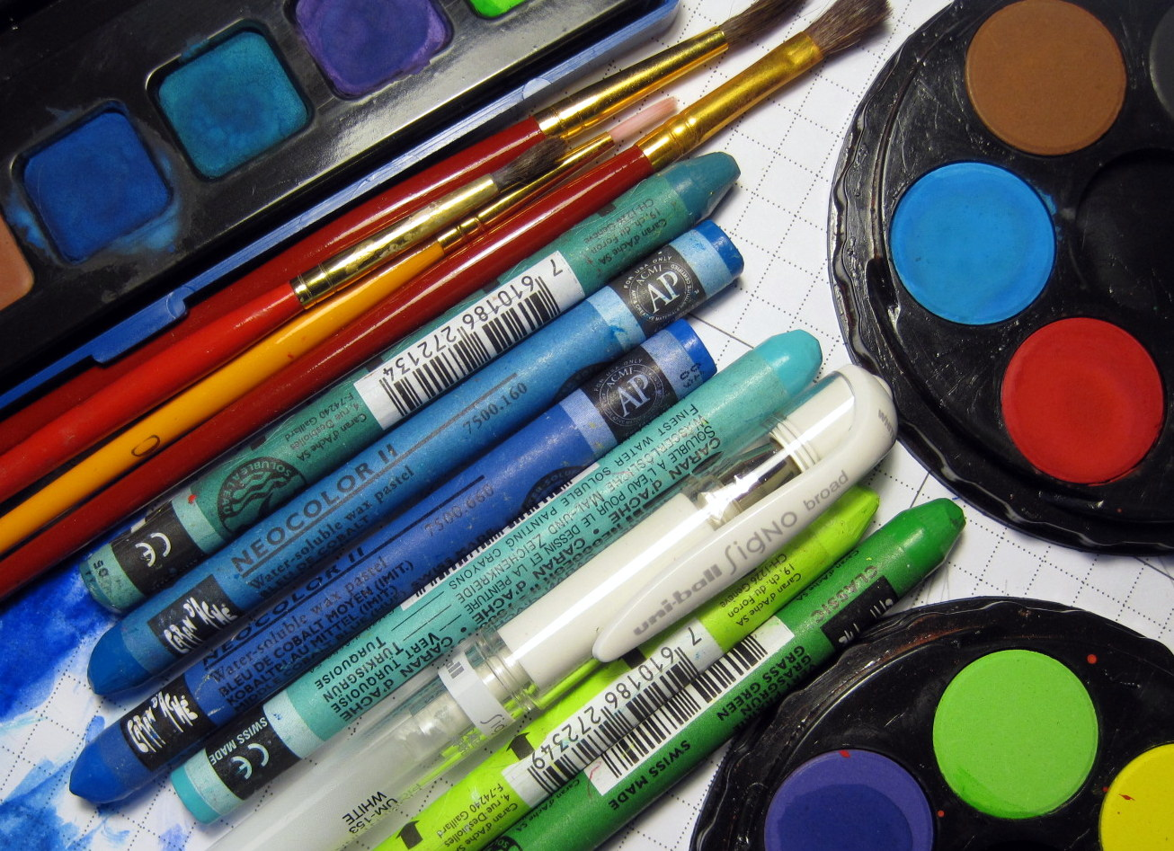 Paints and Crayons