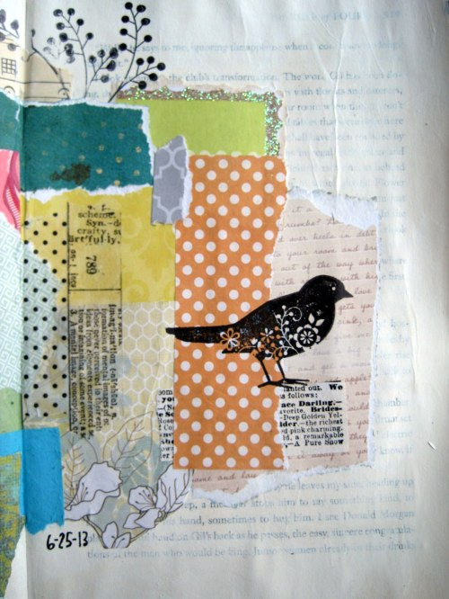 Bird Collage detail/right