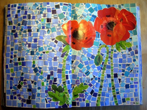 Mosaic Poppies