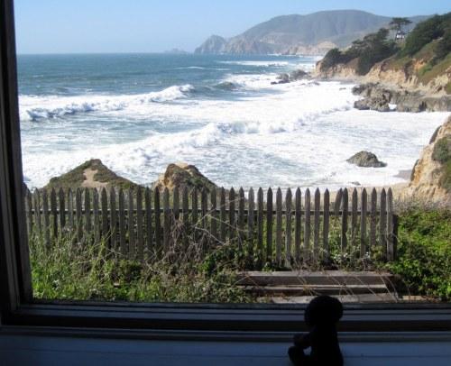 View from hostel window