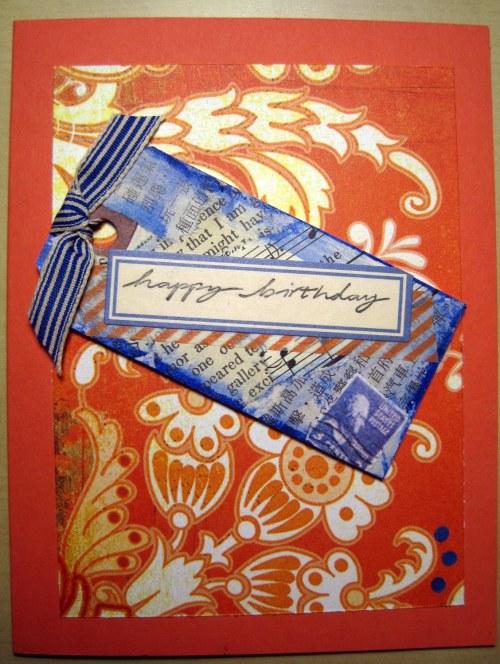 Orange & Blue Card