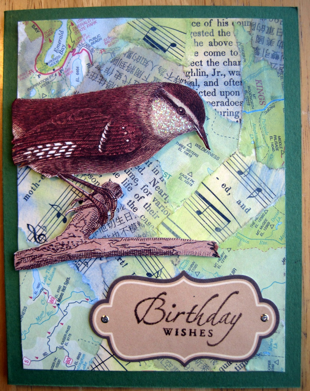 Birthday Bird & Collage