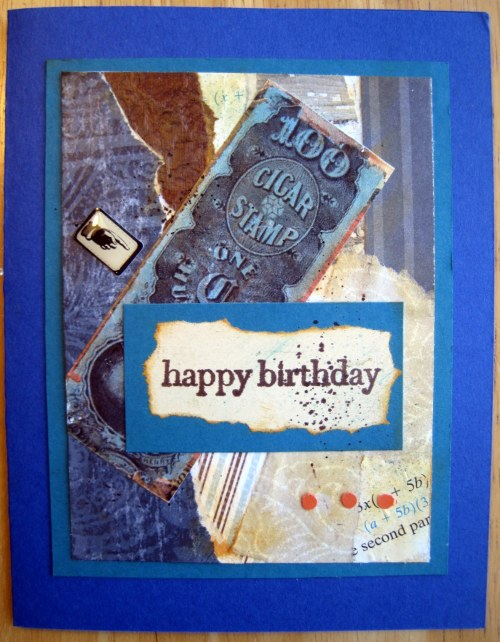 Cigar Label Birthday Card