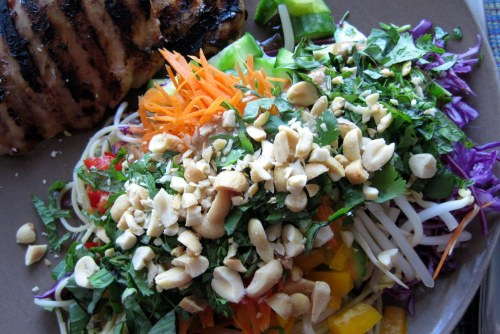 Plate with Cold Noodle Salad
