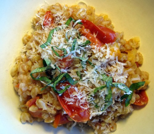 Bowl of Farro & Tomatoes