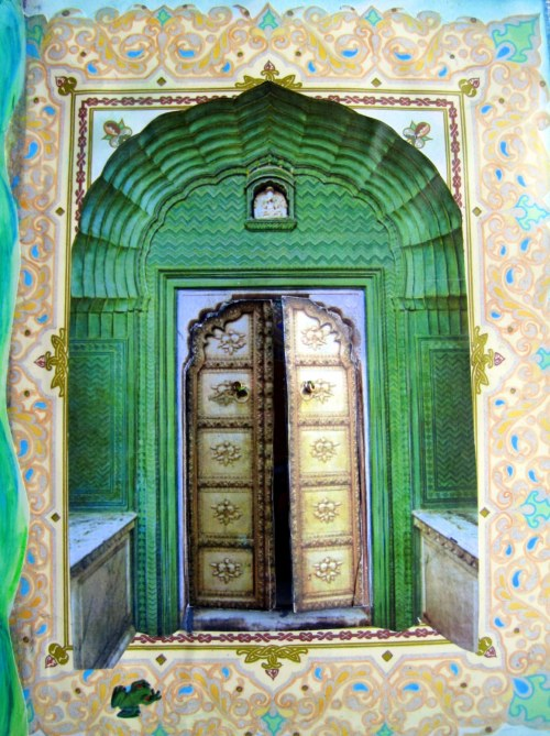 Bronze Door with Green Surround