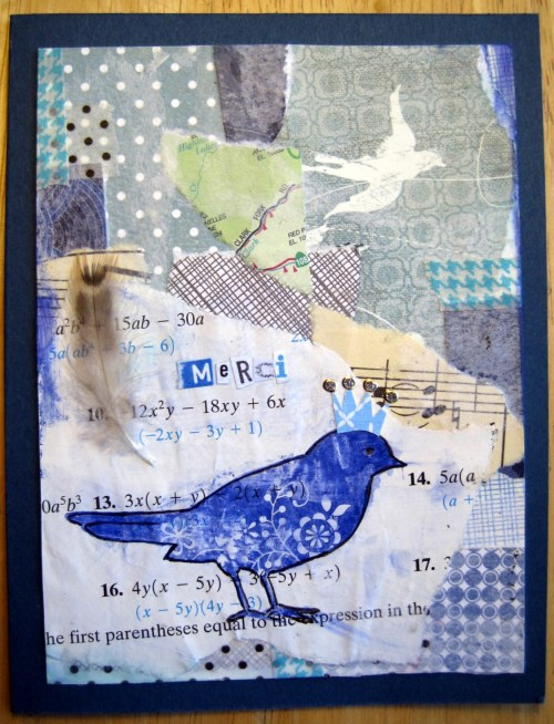 Bird Collage Card
