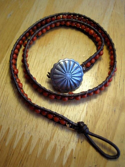 Coral Wrap Bracelet