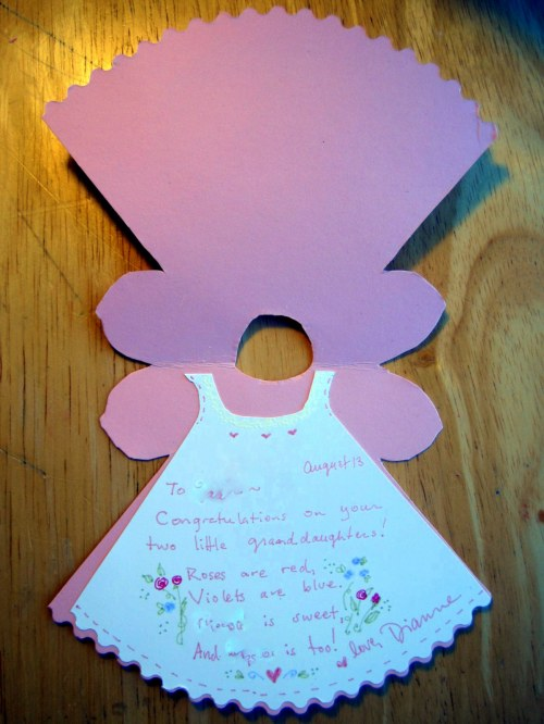 Inside Pink Dress Card