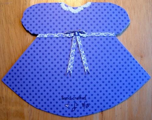 Back of Blue Dress