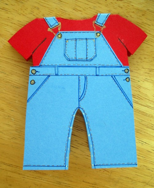 Baby Overalls Card