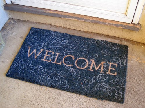 Angled Welcome