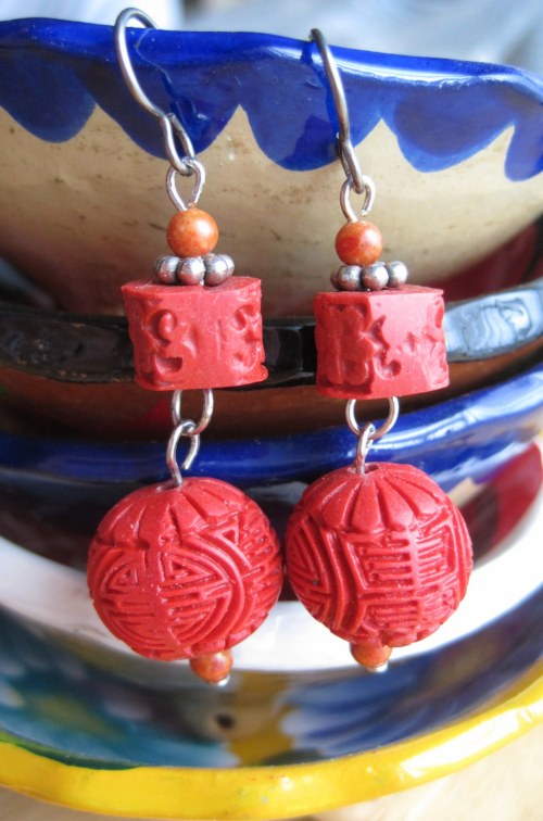 Earrings on Dishes