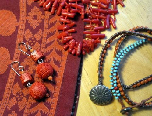 Earrings, Necklace, Bracelets