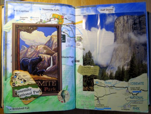 Yosemite Art Journal Page