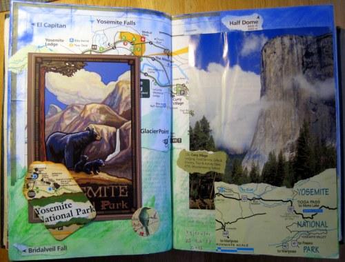 Yosemite Art Journal Page