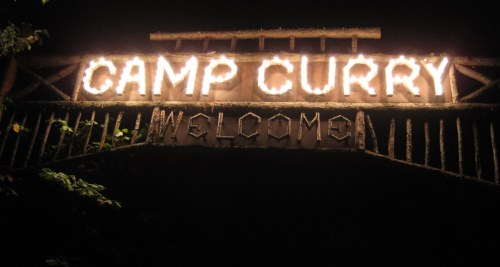 Camp Curry Sign