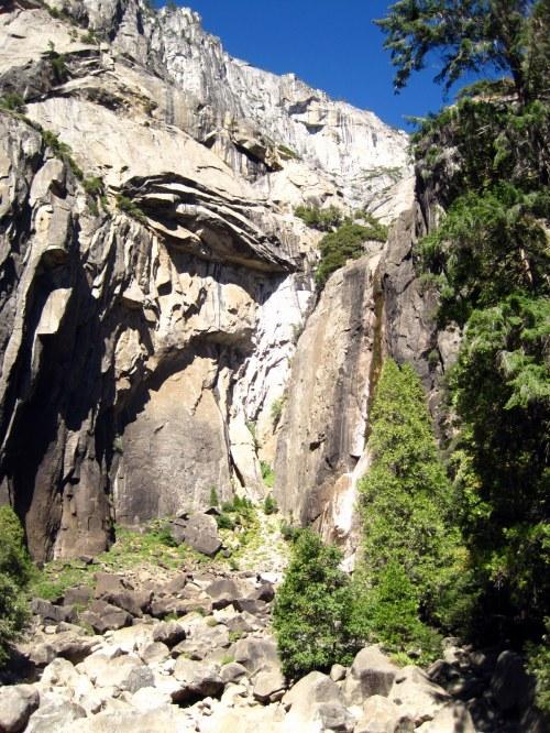 At Yosemite Falls (dry)